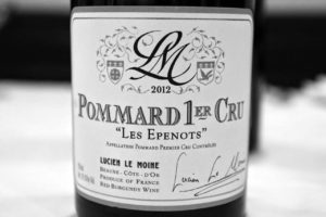 """Lucien Le Moine """"Les Epenots"""" Pommard Premier Cru Controlee"""