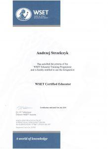 Andrzej Strzelczyk - WSET Certified Educator