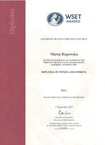 Marta Regowska - WSET Diploma