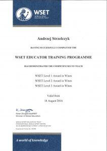 Polish Wine Academy - Andrzej Strzelczyk - WSET Educator Training Programe
