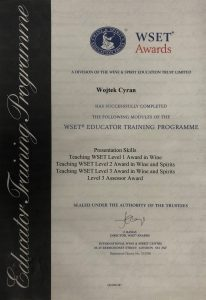 Wojtek Cyran - WSET Education Training Programme