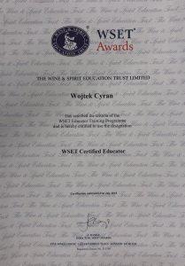 Wojtek Cyran - WSET Certified Educator